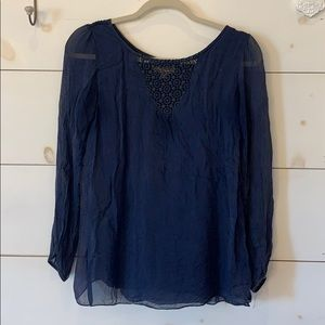 Tops - Navy Blouse